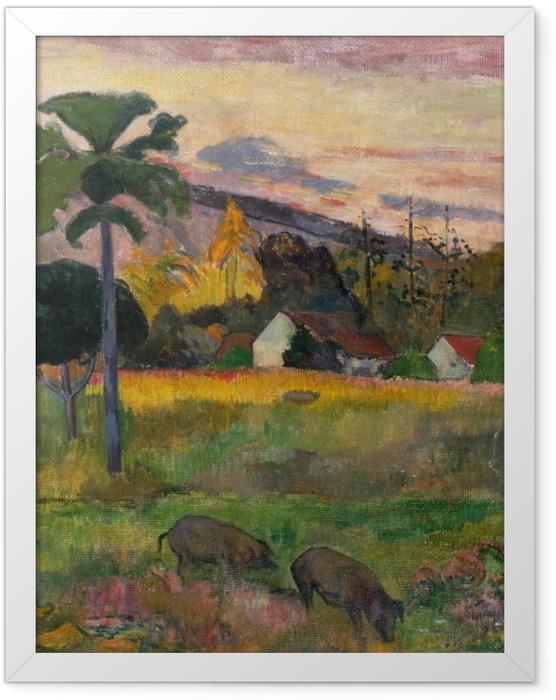 Gerahmtes Poster Paul Gauguin - Haere Mai (Komm her) - Reproduktion
