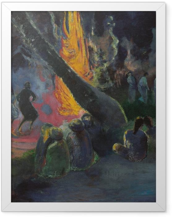 Gerahmtes Poster Paul Gauguin - Upa Upa (Der Feuertanz) - Reproduktion
