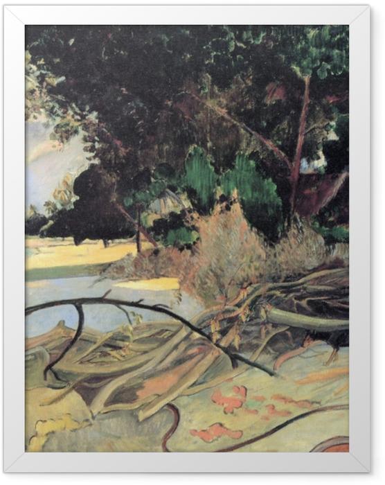 Poster en cadre Paul Gauguin - Te Burao (L'arbre Hibiscus) - Reproductions