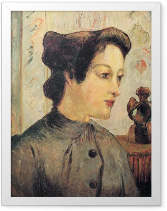 Plakat w ramie Paul Gauguin - Portret młodej kobiety - Reprodukcje
