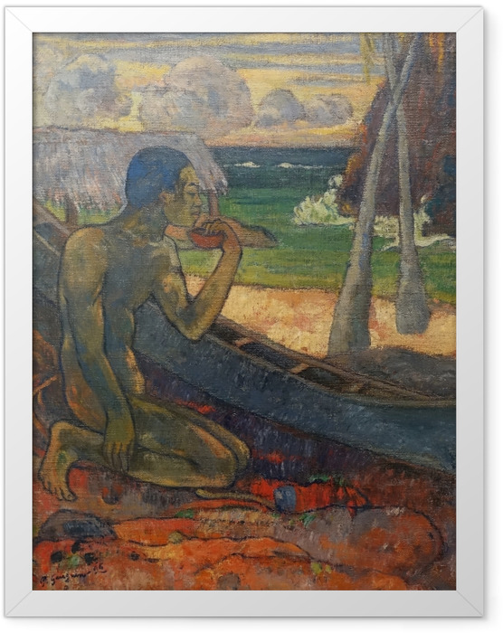 Gerahmtes Poster Paul Gauguin - Der arme Fischer - Reproduktion