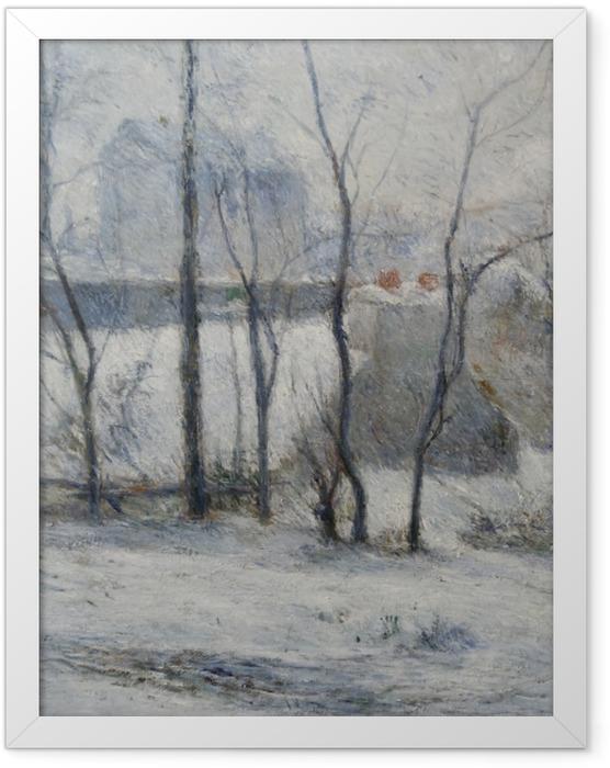 Poster en cadre Paul Gauguin - Jardin sous la neige I - Reproductions