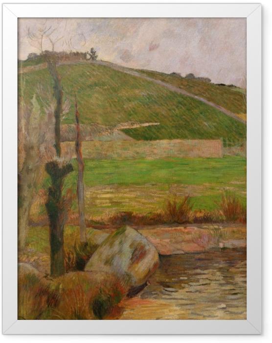 Poster en cadre Paul Gauguin - Paysage près de Pont-Aven - Reproductions