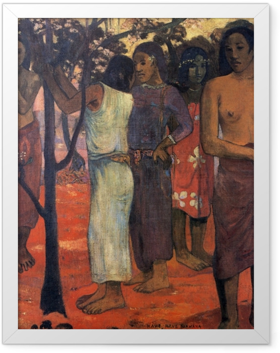 Gerahmtes Poster Paul Gauguin - Nave Nave Mahana (Herrlicher Tag) - Reproduktion