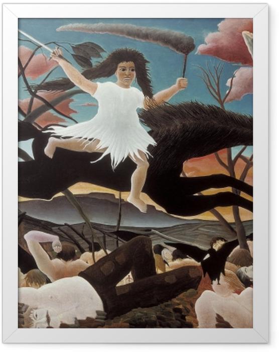 Plakat w ramie Henri Rousseau - Wojna - Reprodukcje