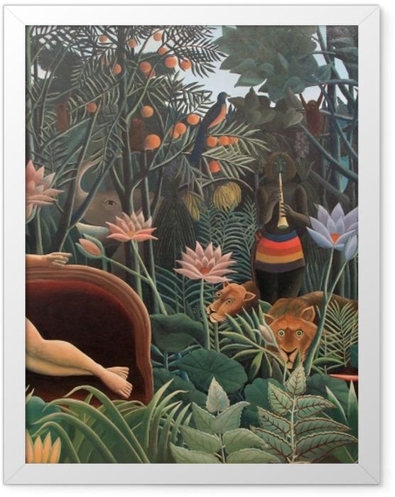 Poster en cadre Henri Rousseau - L'artiste peignant sa femme - Reproductions