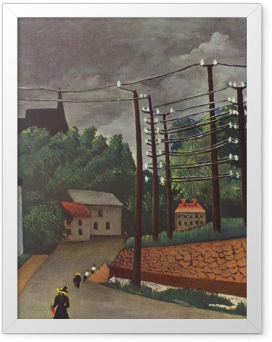 Plakat w ramie Henri Rousseau - Widok na Malakoff - Reprodukcje