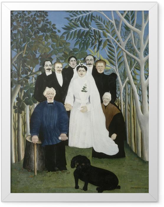 Gerahmtes Poster Henri Rousseau - Hochzeit auf dem Land - Reproduktion