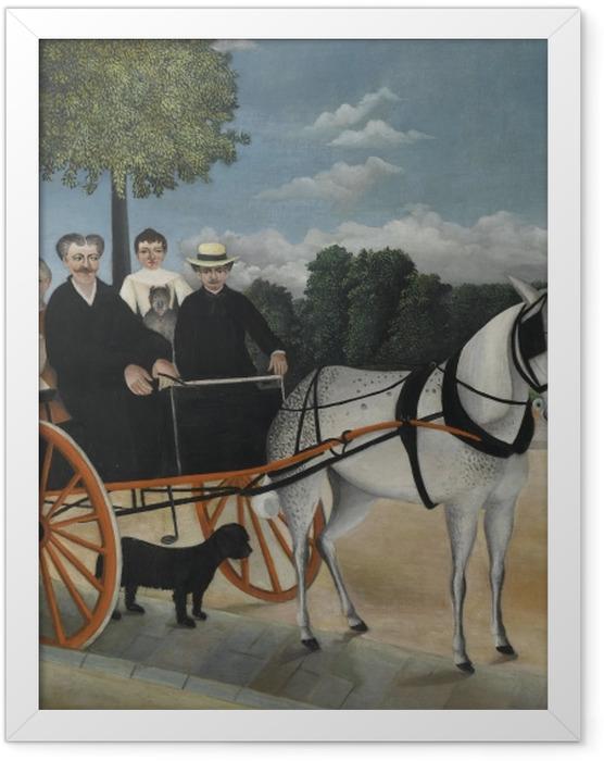 Plakat w ramie Henri Rousseau - Bryczka ojca Junier - Reprodukcje