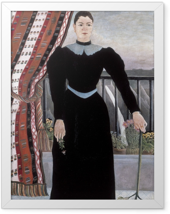 Plakat w ramie Henri Rousseau - Portret kobiety - Reprodukcje