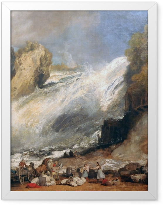 Gerahmtes Poster William Turner - Rheinfall bei Schaffhausen - Reproduktion