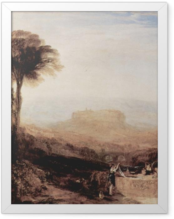 Gerahmtes Poster William Turner - Ansicht von Orvieto, gemalt in Rom - Reproduktion