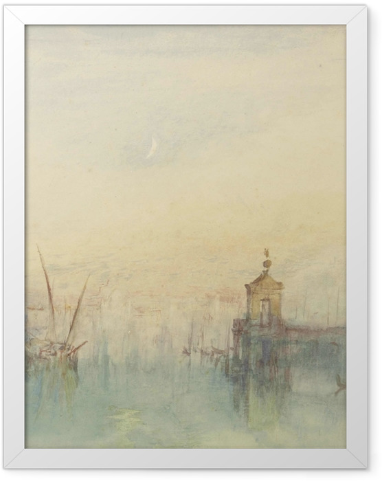 Poster en cadre William Turner - La Dogana - San Giorgio - Reproductions