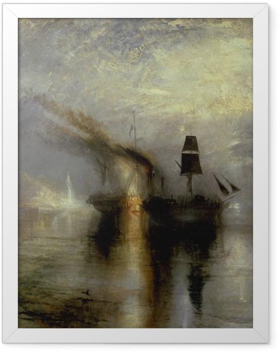 Plakat w ramie William Turner - Morski pogrzeb - Reprodukcje