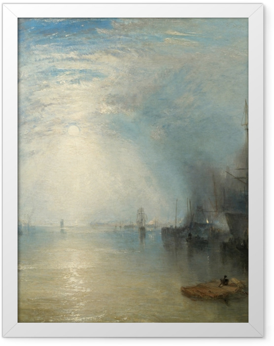 Poster en cadre William Turner - Keelmen Heaving in Coals by Moonlight - Reproductions