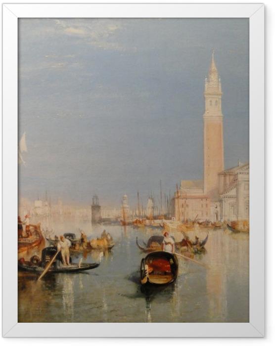 Poster en cadre William Turner - La Dogana - San Giorgio - Reproductions