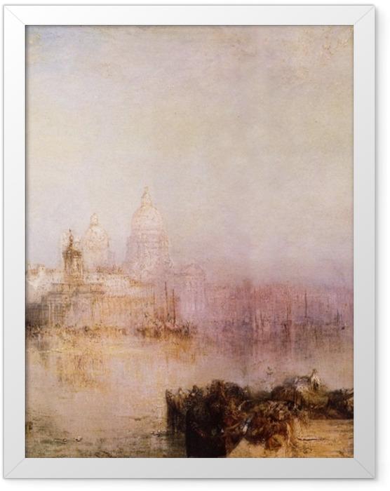 Plakat w ramie William Turner - Dogana i Madonna della Salute - Reprodukcje