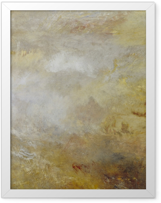 Poster en cadre William Turner - Stormy Sea avec les dauphins - Reproductions