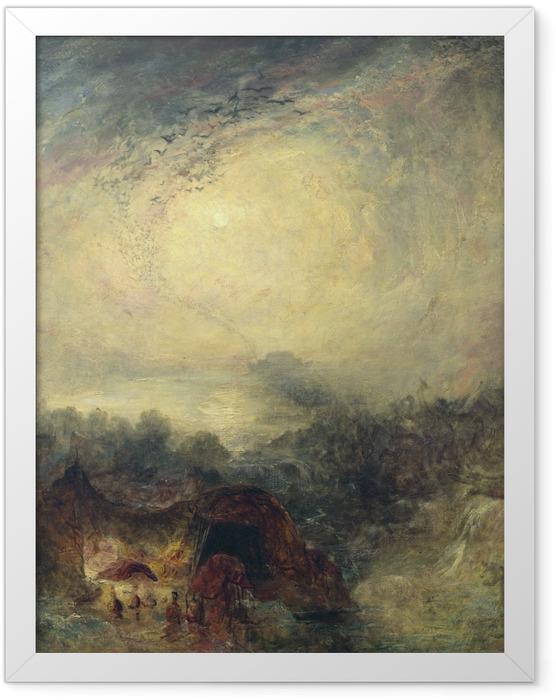 Plakat w ramie William Turner - Wieczorna powódź - Reprodukcje