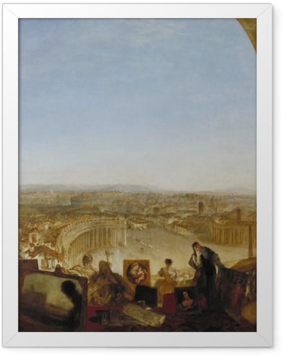 Gerahmtes Poster William Turner - Rom, vom Vatikan aus gesehen - Reproduktion
