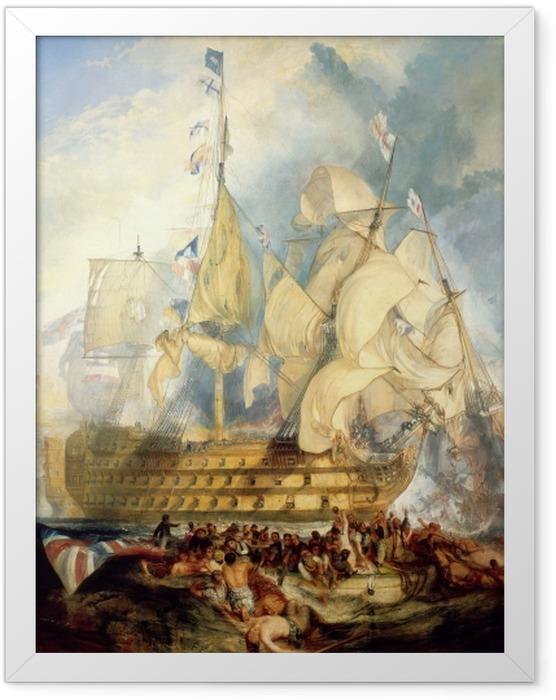 Poster en cadre William Turner - La bataille de Trafalgar - Reproductions