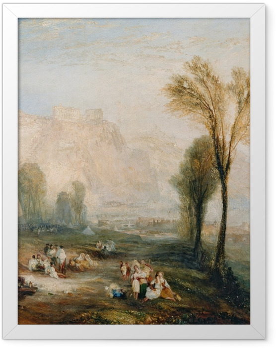 Plakat w ramie William Turner - The Bright Stone of Honor (Ehrenbreitstein) and Tomb of Marceau from Byron's 'Childe Harold - Reprodukcje