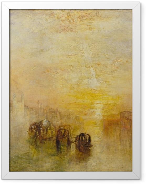 Gerahmtes Poster William Turner - Auf dem Weg zum Ball (San Marino) - Reproduktion