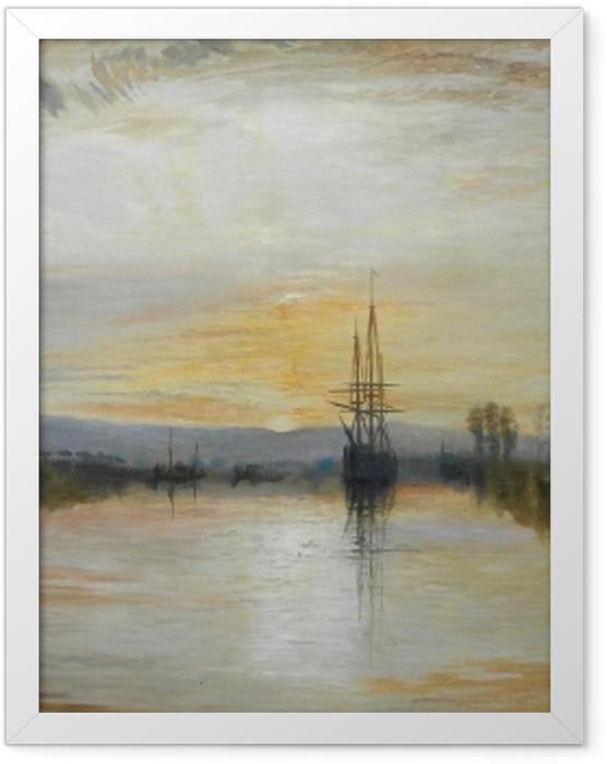 Gerahmtes Poster William Turner - Der Kanal von Chichester - Reproduktion