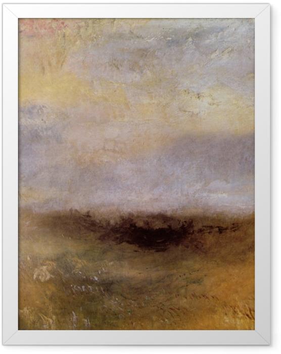 Poster en cadre William Turner - Morceau de mer avec un orage surgissant - Reproductions
