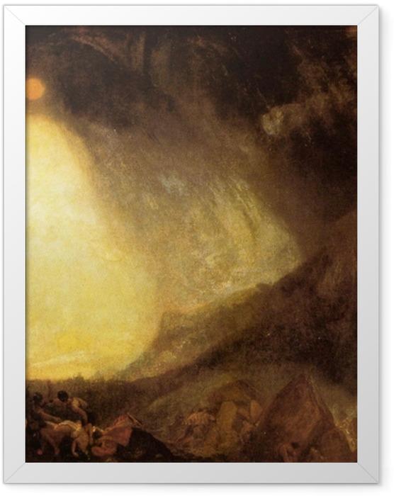 Plakat w ramie William Turner - Burza śnieżna: armia Hannibala przekraczająca Alpy - Reprodukcje