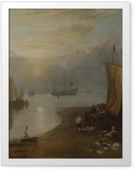 Gerahmtes Poster William Turner - Sonnenaufgang im Dunst - Reproduktion