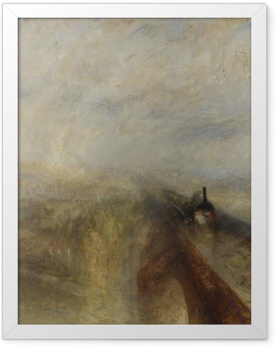 Gerahmtes Poster William Turner - Regen, Dampf und Geschwindigkeit – die Great Western Railway - Reproduktion
