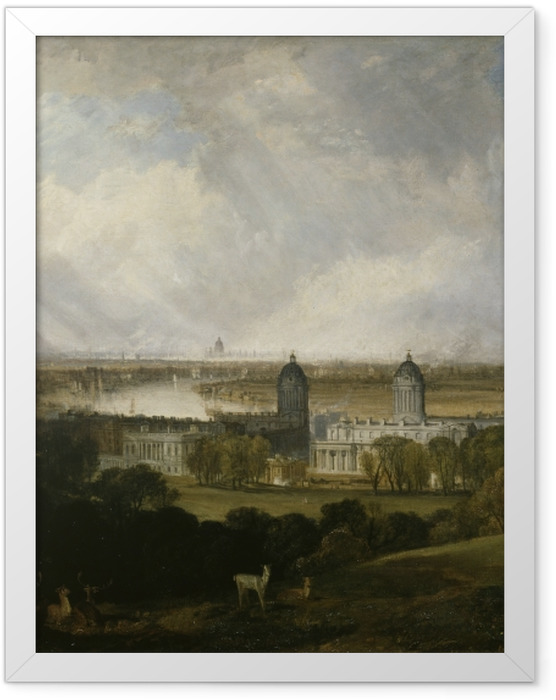 Gerahmtes Poster William Turner - London - Reproduktion