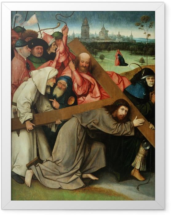 Poster en cadre Jérôme Bosch - Le Portement de Croix - Reproductions