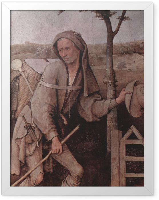 Plakat w ramie Hieronim Bosch - Wędrowiec - Reproductions