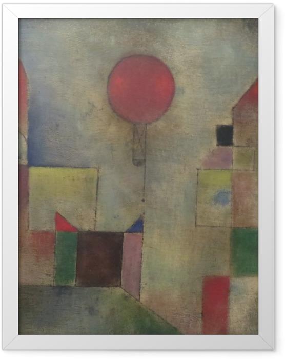 Gerahmtes Poster Paul Klee - Roter Ballon - Reproduktion