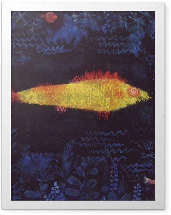 Poster en cadre Paul Klee - Le poisson rouge - Reproductions