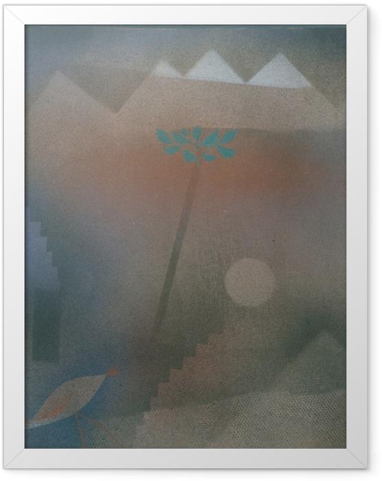 Plakat w ramie Paul Klee - Odchodzący ptak - Reprodukcje