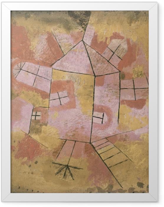 Gerahmtes Poster Paul Klee - Drehbares Haus - Reproduktion