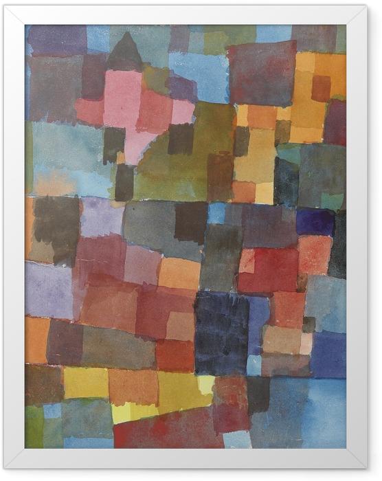 Plakat w ramie Paul Klee - Kosmiczna architektura - Reprodukcje