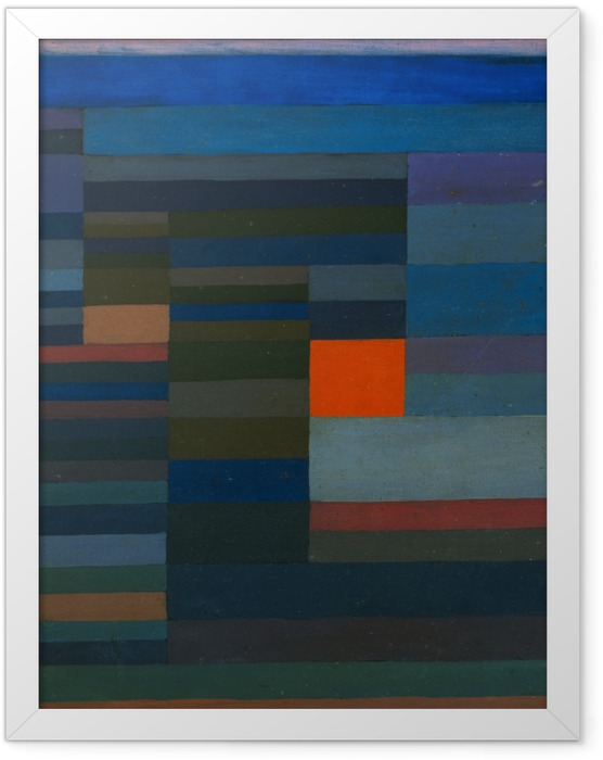 Poster en cadre Paul Klee - Le Feu le soir - Reproductions