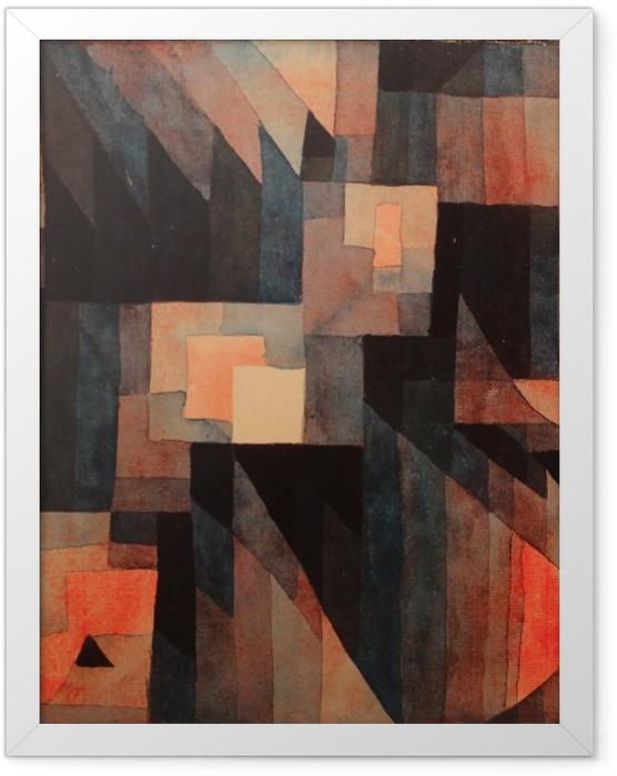 Poster en cadre Paul Klee - Gradation, rouge-vert - Reproductions