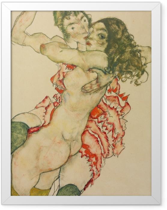 Plakat w ramie Egon Schiele - Dwie kobiety - Reprodukcje