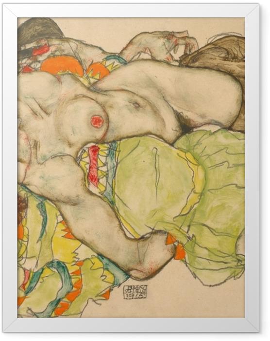 Plakat w ramie Egon Schiele - Przyjaciółki - Reprodukcje