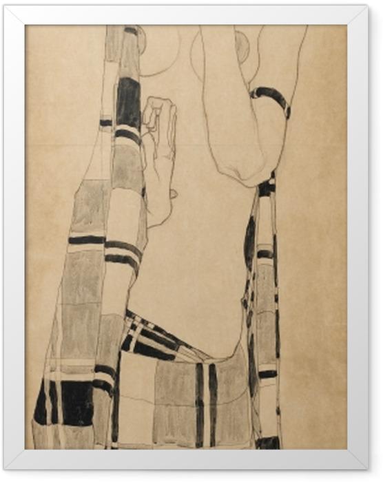 Plakat w ramie Egon Schiele - Stojąca dziewczyna - Reprodukcje