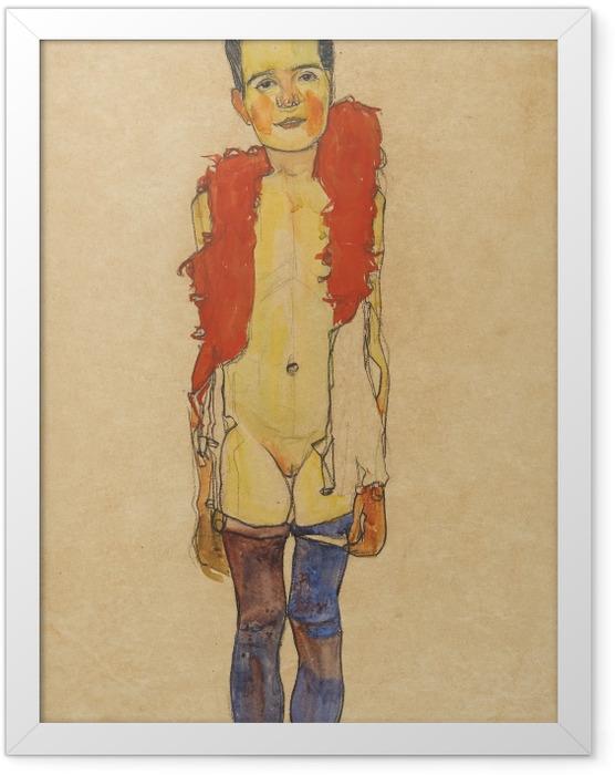 Plakat w ramie Egon Schiele - Dziewczyna z boa - Reprodukcje