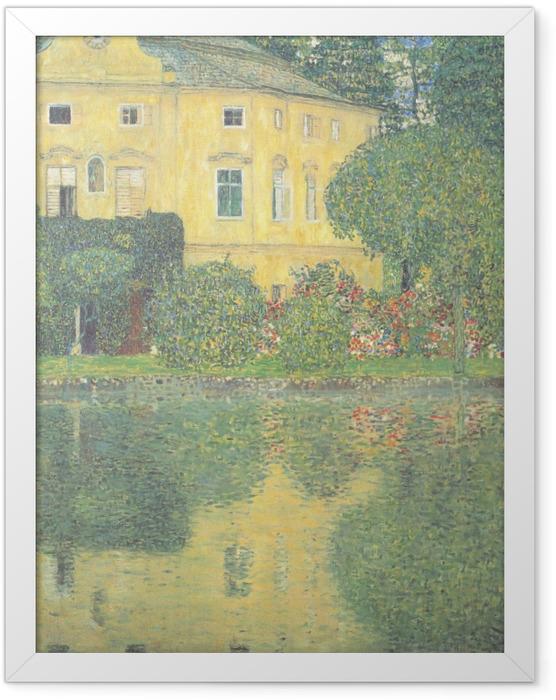 Gerahmtes Poster Egon Schiele - Bäume spiegeln sich in einem Teich wider - Reproduktion