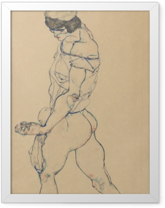 Plakat w ramie Egon Schiele - Atletka - Reprodukcje