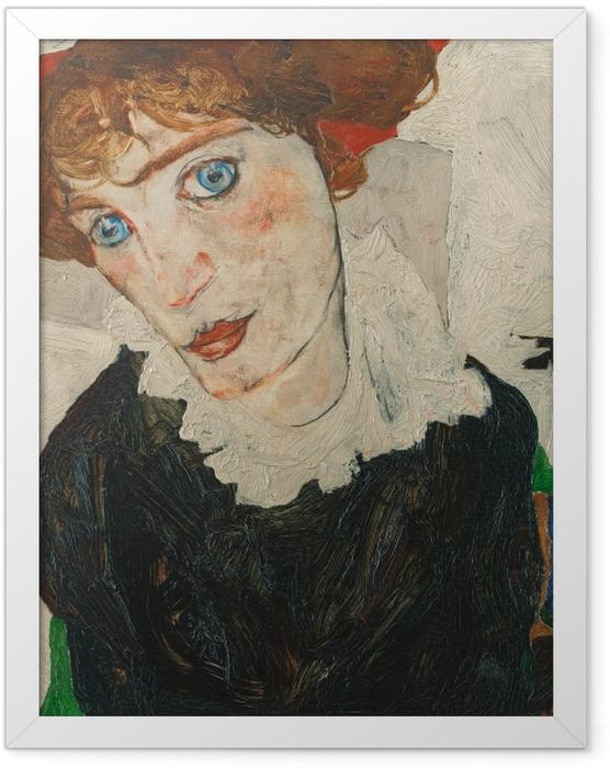 Gerahmtes Poster Egon Schiele - Wally (Bildnis Walburga Neuzil) - Reproduktion