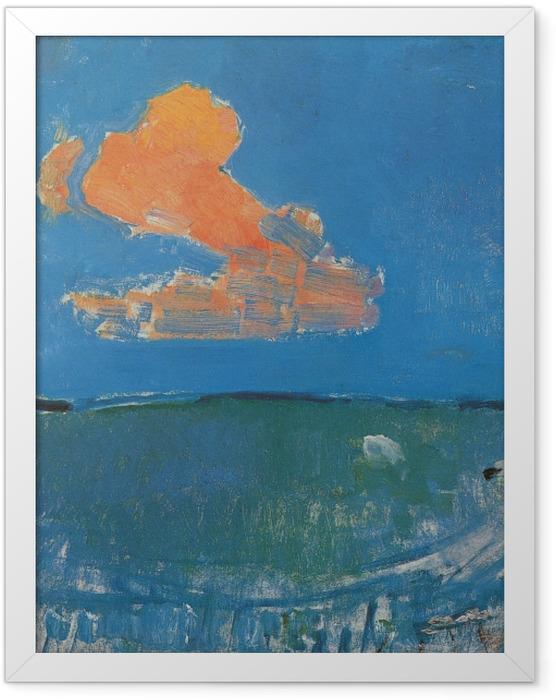 Plakat w ramie Piet Mondrian - Czerwona chmura - Reprodukcje